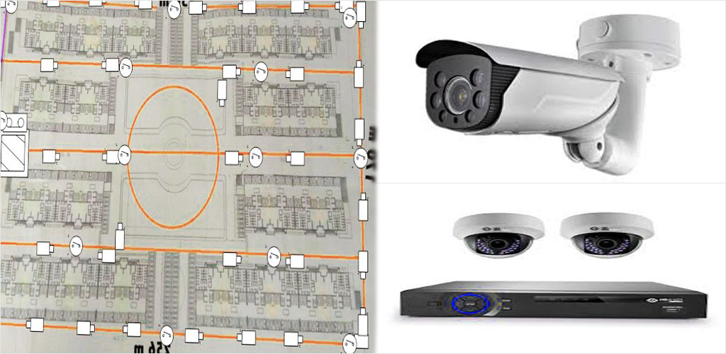 طراحی پلان دوربین مداربسته حفاظتی امنیتی